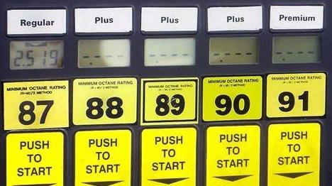 gasoline octane number